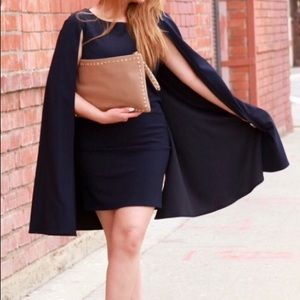 Navy Dress w/Cape
